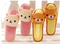 Lovers double relaxed bear slip-resistant women's indoor home lovers slippers open toe slippers