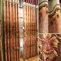 Fashion water-soluble luxury embroidered curtain quality dodechedron finished products new arrival