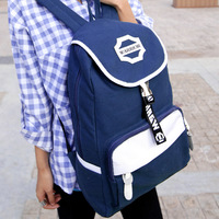 Fashion women's handbag 2013 female preppy style backpack canvas backpack student school bag travel bag