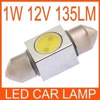 WHITE 1W SMD LED MAP DOOR DOME LIGHT FESTOON BULB GLOVE BOX TRUNK LAMP 31MM 82859