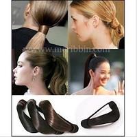 Perfect DIY 24pcs/lot Retail Black/Brown/Golden Wig Hair Band Elastic Hair Ring Maker Headband Hair Jewelry