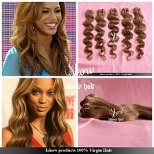 4 bundles Q love hair honey blonde Brazilian virgin hair weaves cheap unprocessed hair kbl brazilian hair free shipping(China (Mainland))
