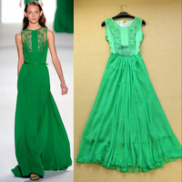 Fashion spring and summer 2014 aesthetic lace elegant full dress elegant slim long dress