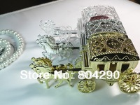 New arrival European palace carriage shaped wedding favors and candy boxes