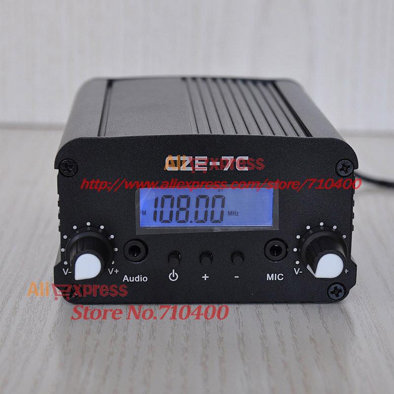1W/7W CZE-7C 76-108MHz PLL LCD Stereo broadcast radio station FM transmitter(China (Mainland))
