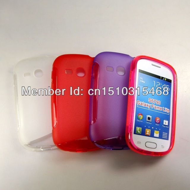 100pcs/lot free shipping Soft TPU Gel S line TPU Skin Cover Case For Samsung Galaxy Fame Lite S6790(China (Mainland))