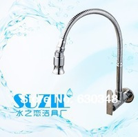 Cold Kitchen Faucet  Basin Water Tap Material Copper and Alloy Wall Mounted faucet Universal Rotary Faucet