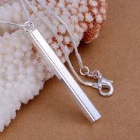 50pcs P222 fashion jewelry chains necklace 925 silver pendant Column Pendant free shipping