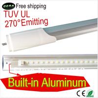 180pcs lot 25W t8 led tube 1500mm  5FT 1.5m T8 270 degree emitting led fluorescent lamp  2600-2800LM CE/RoHS/TUV/UL