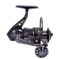 TOKUSHIMA  Hk7000 shaft metal fishing reels round pole wheel spinning wheel fish reel metal fishing reel 5.5:1 13+1 Ball bearing