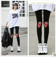 Double 12 2013 autumn red cotton legging lisper beaver cashmere skinny pants