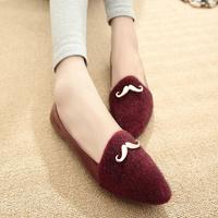 Fashion 2014 cross fashion pointed toe shoes female flat single shoes