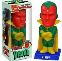 Free Shipping FUNKO Wacky Wobbler Marvel VISION Bobble Head PVC Action Figure Toy Wholesale