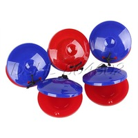 5pcs Red Blue Baby Infant Round Castanet Musical Instrument Toy Great Gift