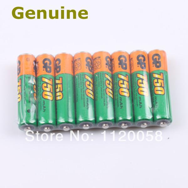 8PCS/lot Genuine GP AAA Ni-MH 750mAh 1.2V Rechargeable battery Batteries(China (Mainland))