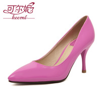 Hate 2014 four seasons paragraph sexy black high-heeled shoes nude color pointed toe formal ol elegant shoes