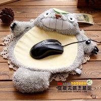 Super cute 1pc anime laugh shape totoro cuff mouse pad mat big plush creative home furnishing toy children boy girl gift