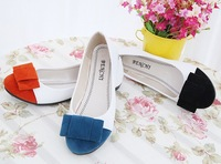 Women's single shoes flat heel spring shoes 2014 female shoes sweet bow colorant match flat