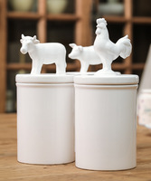 American ceramic animal storage tank sealed cans storage tank sucrier milk cans home accessories