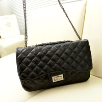 2014 women's handbag plaid chain bag vintage one shoulder women's cross-body bag fashion small sachet