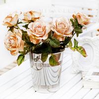 Rose artificial flower silk flower artificial flower artificial accessories home accessories floor