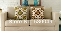 Free shipping 18''x18'' 2pcs High-quality Handmade Flores Convallariae Embroidery Cushion Cover O017