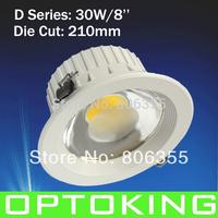 D Series 30W/8'' LED COB DOWN LAMP  10PCS /LOT EPISTAR CHIP 85~265V  DHL/FEDEX/UPS FREE SHIPPING ,2YEARS GUARANTEE
