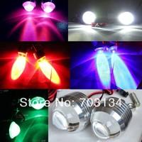 10w LED Motorcycle headlight Universal Fog light Red/Blue/Purple/Pink/GREEN/White Strobe flashing Warning Spotlight License lamp