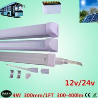 10pcs/lot T5 led  tube 4w solar tube 300-400lm led solar shed light  1ft light bulb 12v /24v/36v 300mm led bus lamp