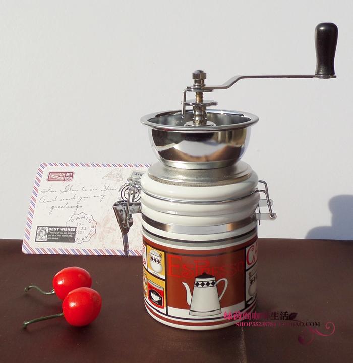 Tipo prático moedor mão vasilha cerâmica moagem manuais de máquinas grãos de café 015(China (Mainland))