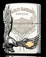 wholesale 3pcs/lot  High imitation windproof   Posted chapters Silver Harley Eagle   Silver Liner lighter