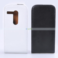 200pcs/Lot Flip Genuine Vertical Leather Case for Motorola Moto G Case by DHL