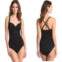 2014 slim one piece swimwear women's trigonometric