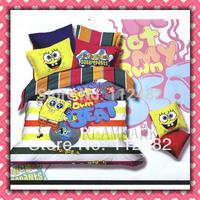 Spongebob Squarepants Cotton Children 3pcs Bedding Set Pink Kid Single Bed Size Free Shipping