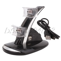 USB Dual Wireless Bluetooth Controller Charger Charging Dock Station