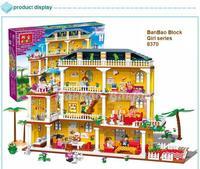 learning & education Banbao Girl series 8370 Creative villa 900pcs Building Block Set Girls Bricks Toy Lego compatible