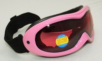 Free Shipping Double Lens Polarized Anti Fog Windproof Ski Goggles UV400 Protection Europe Style Snow Glasses Pink Men Women