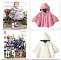 Free Shipping Combi Baby Coats Girl's Smocks Ourerwear Fleece cloak Jumpers mantle Children's Poncho 1pcs/lot Cape