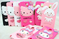 Free Shipping! Retail 1pcs cute 3D Hello Kitty Rabbit galaxy silicone case for SAMSUNG galaxy note3 n9000 n9006
