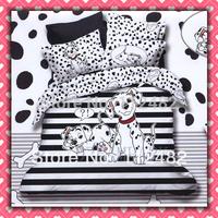 Spotty Dog Cotton Children 3pcs Bedding Set Pink Kid Single Bed Size Free Shipping