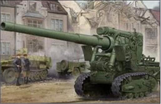 Trumpeter model 02338 1/35 Soviet Br-2 152mm Gun M1935 plastic model kit(China (Mainland))