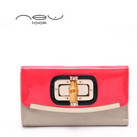 2014 newest style bamboo button female coin purse ladies' wallet women's wallets purses billfold hasp card holder notecase