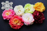 (50 pieces/lot)Mixed Color Order Silk Flower Head,Newborn Baby Girls Photography Hair Accessories,Headband Flowers(7color)