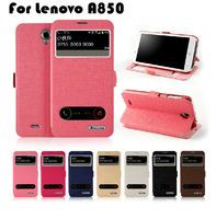 New Arrival Lenovo A850 case, ASZUNE Open-windows series Leather flip Cover case for Lenovo A850 !LX228
