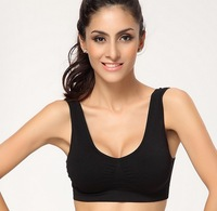 2014 Seamless Network Burst Adjustable Push Up Sports Bra Yoga Vest Sports Wear