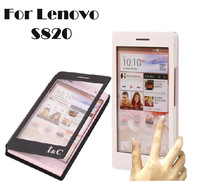 New Arrival Lenovo S820case, Full-screen window series Leather flip Cover case for Lenovo S820 !LX229