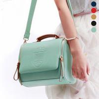 sale 2014 fashion preppy style women's candy color handbag vintage women leather handbags, messenger bags free shipping