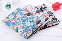 New Fashion Flower cloth pattern Leather Case Cover skin with card slots For Samsung Galaxy Note 10.1 2014 Edition P600 P601