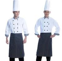 [10 pcs] Work wear long-sleeve cook suit cook work wear clothing kitchen clothes long-sleeve  cooker long shirt free ship