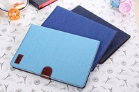 New Fashion jeans canvas pattern Leather Case Cover skin with card slots For Samsung Galaxy Note 10.1 2014 Edition P600 P601